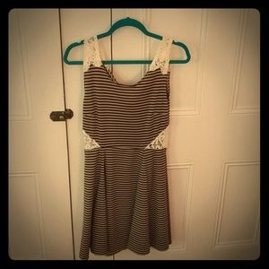 Poof Couture Striped Dress